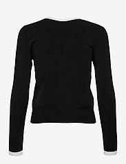 Lauren Ralph Lauren - Color-Blocked Jersey Cardigan Sweater - cardigans - black/white - 1