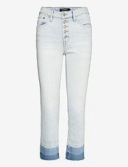 Lauren Ralph Lauren - High-Rise Straight Ankle Jean - slim jeans - paradise blue was - 0