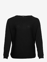 Cable-Knit Boatneck Sweater - POLO BLACK