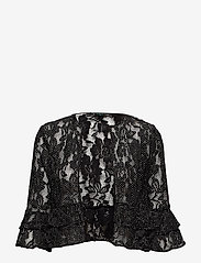 Lauren Ralph Lauren - Polka-Dot Lace Cropped Cardigan - neuletakit - black/white - 0