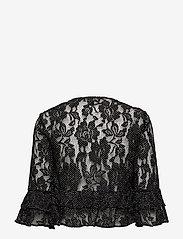 Lauren Ralph Lauren - Polka-Dot Lace Cropped Cardigan - neuletakit - black/white - 1