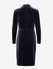 Lauren Ralph Lauren - RADIANT STR VELVET-DRESS - wrap dresses - charcoal - 1