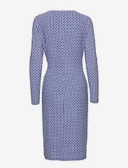 Lauren Ralph Lauren - Print Jersey Long-Sleeve Dress - wrap dresses - parisian blue/col - 1