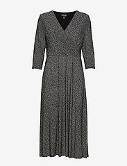 Lauren Ralph Lauren - PRINTED MATTE JRSY-DRESS - wrap dresses - sparkling champag - 4