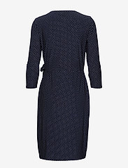 Lauren Ralph Lauren - Polka-Dot Jersey Dress - wrap dresses - lighthouse navy/c - 1