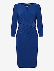 Lauren Ralph Lauren - Wrap-Style Jersey Dress - midi kjoler - summer sapphire - 1