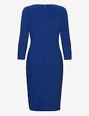 Lauren Ralph Lauren - Wrap-Style Jersey Dress - midi kjoler - summer sapphire - 2