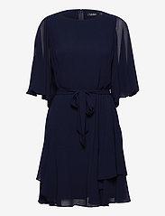 Lauren Ralph Lauren - Ruffle-Sleeve Georgette Dress - cocktailkjoler - lighthouse navy - 0