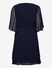 Lauren Ralph Lauren - Ruffle-Sleeve Georgette Dress - robes de cocktail - lighthouse navy - 1