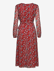 Lauren Ralph Lauren - Puff-Sleeve Georgette Dress - slå-om-kjoler - red/blue/multi - 2