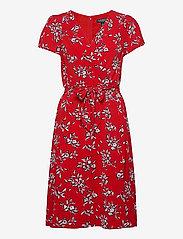 Lauren Ralph Lauren - Floral Crepe Dress - midi kjoler - orient red/lh nav - 1