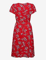 Lauren Ralph Lauren - Floral Crepe Dress - midi kjoler - orient red/lh nav - 2