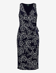Lauren Ralph Lauren - Floral Jersey Surplice Dress - midi kjoler - lighthouse navy/c - 1