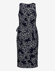 Lauren Ralph Lauren - Floral Jersey Surplice Dress - midi kjoler - lighthouse navy/c - 2