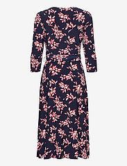 Lauren Ralph Lauren - Floral Jersey Surplice Dress - midi kjoler - lh navy/orient re - 2
