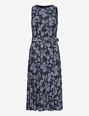 Lauren Ralph Lauren - Floral Jersey Sleeveless Dress - midi kjoler - lh navy/blue/colo - 1