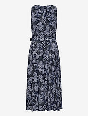 Lauren Ralph Lauren - Floral Jersey Sleeveless Dress - midi kjoler - lh navy/blue/colo - 2