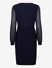 Lauren Ralph Lauren - Twist-Knot Jersey-Georgette Dress - robes de cocktail - lighthouse navy - 1