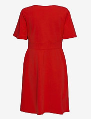 Lauren Ralph Lauren - Crepe Fit-and-Flare Dress - robes de jour - lipstick red - 1