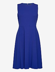 Lauren Ralph Lauren - Crepe Fit-and-Flare Dress - robes de cocktail - french ultramarin - 0