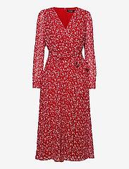Lauren Ralph Lauren - Print Georgette Dress - sommerkjoler - lipstick red/col - 0
