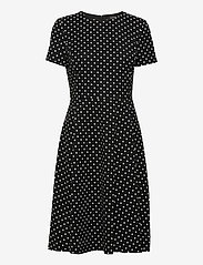 Lauren Ralph Lauren - Floral Crepe Fit-and-Flare Dress - hverdagskjoler - black/colonial cr - 0