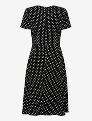 Lauren Ralph Lauren - Floral Crepe Fit-and-Flare Dress - hverdagskjoler - black/colonial cr - 1