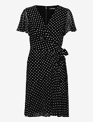 Lauren Ralph Lauren - Print Jersey-Georgette Dress - robes de jour - black/colonial cr - 0