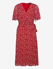Lauren Ralph Lauren - Print Georgette Dress - robes d'été - lipstick red/col - 0