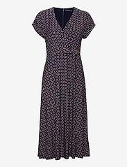 Lauren Ralph Lauren - Print Buckle-Trim Jersey Dress - hverdagskjoler - lh navy/red/multi - 0