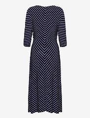Lauren Ralph Lauren - Striped Elbow-Sleeve Jersey Dress - sommerkjoler - lh navy/colonial - 1