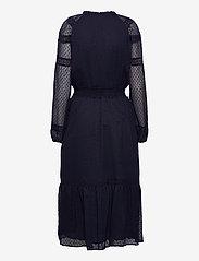 Lauren Ralph Lauren - Polka-Dot Lace-Trim Dobby Dress - hverdagskjoler - lighthouse navy - 2