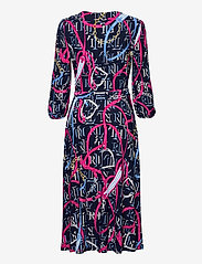 Lauren Ralph Lauren - Print Jersey Surplice Dress - hverdagskjoler - lh navy/aruba pin - 2