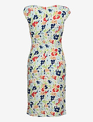 Lauren Ralph Lauren - Floral Pleated Jersey Dress - sommerkjoler - col cream/blue/mu - 1
