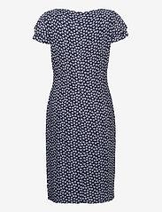 Lauren Ralph Lauren - Floral Jersey Surplice Dress - korte kjoler - lh navy/col cream - 1