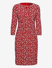 Lauren Ralph Lauren - Print Wrap-Style Jersey Dress - hverdagskjoler - lipstick red/col - 0