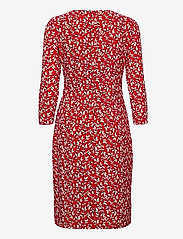 Lauren Ralph Lauren - Print Wrap-Style Jersey Dress - hverdagskjoler - lipstick red/col - 1