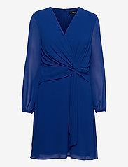 Lauren Ralph Lauren - Georgette Long-Sleeve Dress - cocktailkjoler - sapphire star - 0