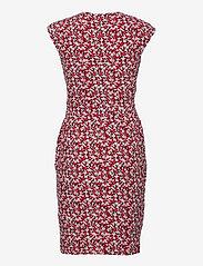 Lauren Ralph Lauren - Floral Pleated Surplice Dress - cocktailkjoler - lighthouse navy/r - 1
