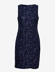 Lauren Ralph Lauren - Sequined Floral Mesh Dress - lyhyet mekot - lighthouse navy - 0
