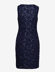 Lauren Ralph Lauren - Sequined Floral Mesh Dress - lyhyet mekot - lighthouse navy - 1