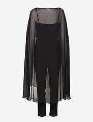 Lauren Ralph Lauren - LUXE TECH CREPE-JUMPSUIT W/COMBO - haalarit - black - 1
