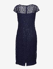 Lauren Ralph Lauren - Sequined Lace Cap-Sleeve Dress - sukienki do kolan i midi - lighthouse navy - 1
