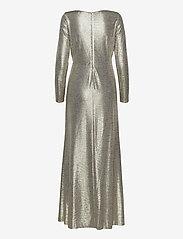 Lauren Ralph Lauren - Metallic Ruffle-Trim Gown - aftenkjoler - beige/gold - 1