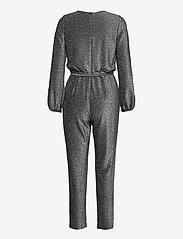 Lauren Ralph Lauren - Metallic Long-Sleeve Jumpsuit - buksedragter - black/silver - 1