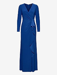 Lauren Ralph Lauren - Ruffle-Trim Jersey Gown - kveldskjoler - sapphire star - 0