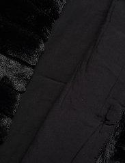 Lauren Ralph Lauren - Faux-Fur Chubby Coat - sztuczne futro - black w/ thin sta - 4