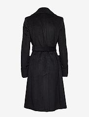 Lauren Ralph Lauren - Wool-Blend Wrap Coat - uldfrakker - black - 1