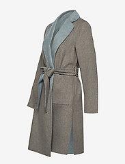 Lauren Ralph Lauren - Reversible Wool-Blend Coat - uldfrakker - grey/blue - 2