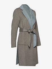 Lauren Ralph Lauren - Reversible Wool-Blend Coat - uldfrakker - grey/blue - 3